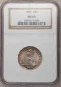 Seated Quarters, 1887 25C MS65 NGC....