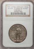 Commemorative Silver: , 1925 Medal Norse Thick Planchet MS66 NGC. PCGS Population (30/0).(#9450). From The Dr. and Mrs. Cla...