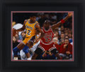 Basketball Collectibles:Photos, Michael Jordan and Magic Johnson Signed Oversized UDA Photograph -Limited Edition #66/100....