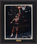"Basketball Collectibles:Photos, Michael Jordan Signed ""UDA"" Oversized Photograph - Limited#99/123...."