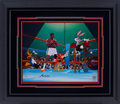 Boxing Collectibles:Autographs, Muhammad Ali, Bugs Bunny, Daffy Duck and Friends Limited EditionSigned Hand Painted Cel #550/650 Original Art (Warner Bros., ...