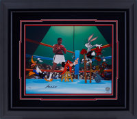 Muhammad Ali, Bugs Bunny, Daffy Duck and Friends Limited Edition Signed Hand Painted Cel #550/650 Original Art (Warner B...