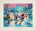 Original Comic Art:Miscellaneous, Carl Barks Mardi Gras Before the Thaw Regular EditionLithograph #77/350 (Another Rainbow, 1992).... (Total: 2 Items)