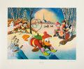Original Comic Art:Miscellaneous, Carl Barks Snow Fun Regular Edition Lithograph #77/345(Another Rainbow, 1990).... (Total: 2 Items)