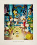 Original Comic Art:Miscellaneous, Carl Barks The Stone That Turns All Metals Gold LithographPrint #77/350 (Another Rainbow, 1991).... (Total: 3 Items)