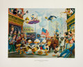 Original Comic Art:Miscellaneous, Carl Barks July Fourth in Duckburg Regular EditionLithograph #77/350 (Another Rainbow, 1998).... (Total: 2 Items)
