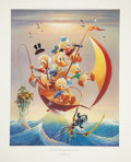 Original Comic Art:Miscellaneous, Carl Barks Sailing the Spanish Main Lithograph #77/245(Another Rainbow, 1982).... (Total: 2 Items)