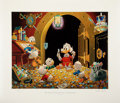 Original Comic Art:Miscellaneous, Carl Barks This Dollar Saved My Life at Whitehorse Regular Edition Lithograph #77/345 (Another Rainbow, 1994).... (Total: 2 Items)
