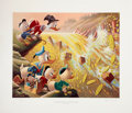 Original Comic Art:Miscellaneous, Carl Barks Dam Disaster at Money Lake Signed and NumberedLithograph #1/345 (Another Rainbow, 1986).... (Total: 2 Items)