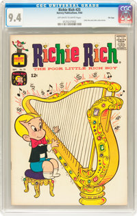 Richie Rich #25 File Copy (Harvey, 1964) CGC NM 9.4 Off-white to white pages