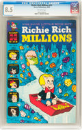 Silver Age (1956-1969):Cartoon Character, Richie Rich Millions #31 (Harvey, 1968) CGC VF+ 8.5 Off-white pages....