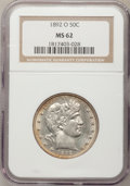 Barber Half Dollars: , 1892-O 50C MS62 NGC. NGC Census: (37/76). PCGS Population (24/88).Mintage: 390,000. Numismedia Wsl. Price for problem free...