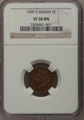 Indian Cents: , 1909-S 1C VF30 NGC. NGC Census: (118/645). PCGS Population(245/1069). Mintage: 309,000. Numismedia Wsl. Price for problem ...