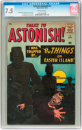 Silver Age (1956-1969):Horror, Tales to Astonish #5 (Marvel, 1959) CGC VF- 7.5 Off-white pages....