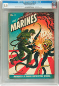 Golden Age (1938-1955):War, United States Marines #3 (Magazine Enterprises, 1944) CGC VG/FN 5.0Cream to off-white pages....