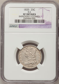 1835 25C --Improperly Cleaned--NGC Details. XF. B-6. NGC Census: (27/282). PCGS Population (68/225). Mintage: 1,952,000...