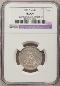 1887 25C --Improperly Cleaned--NGC Details. Proof. NGC Census: (3/196). PCGS Population (3/216). Mintage: 710. Numismedi...