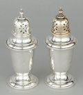 Silver Holloware, American:Other , A PAIR OF AMERICAN SILVER AND SILVER GILT SALT AND PEPPER SHAKERS .Gorham Manufacturing Co., Providence, Rhode Island, circ... (Total:2 Items Items)