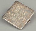 Silver Smalls:Cigarette Cases, A SILVER CIGARETTE CASE . Probably American, early 20th century.Marks: STERLING, 950. 0-3/8 x 3-3/4 x 3-3/8 inches (1.0...