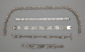 Silver Smalls:Other , ONE NECKLACE AND FOUR MEXICAN SILVER BRACELETS . Mexico, 20thcentury. Marks: MEXICO, TC-56, 925. 15 inches length(neck... (Total: 5 Items Items)