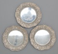 Silver Holloware, American:Plates, A SET OF THREE AMERICAN SILVER NUT DISHES . S. Kirk & Son,Baltimore, Maryland, circa 1900. Marks: S. KIRK & SON,STERLING... (Total: 3 Items Items)