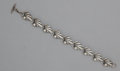 Silver Smalls:Other , A DANISH SILVER BRACELET. N.E. From, Denmark, circa 1945. Marks:STERLING, DENMARK, N.E. FROM. 7 inches long (17.8 cm). ...