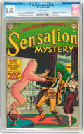 Golden Age (1938-1955):Horror, Sensation Mystery #111 (DC, 1952) CGC VG/FN 5.0 Off-white pages....