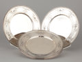 Silver Holloware, American:Plates, A SET OF SIX AMERICAN SILVER PLATES . Graff, Washbourne & Dunn,New York, New York, circa 1910. Marks: (diamond-lozenge-diam...(Total: 6 Items Items)