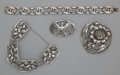 Silver Smalls:Other , A GROUP OF AMERICAN SILVER JEWELRY. Danecraft, Providence, RhodeIsland, 20th century. Marks: DANECRAFT, REG..U.S. PAT. OF...(Total: 4 Items Items)