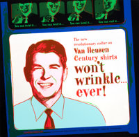 ANDY WARHOL (American, 1928-1987) Van Heusen (Ronald Reagan), (from Ads), 1985 Silkscreen in colors