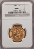 Liberty Eagles: , 1880 $10 MS62 NGC. NGC Census: (327/53). PCGS Population (205/68).Mintage: 1,644,876. Numismedia Wsl. Price for problem fr...