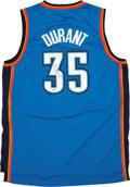 Basketball Collectibles:Uniforms, Kevin Durant Signed Jersey....