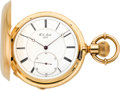 Timepieces:Pocket (pre 1900) , H.L. Matile Mint Gold Pocket Chronometer with Helical Spring, circa 1880's. ...