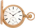 Timepieces:Pocket (pre 1900) , Louis Audemars Superior Quality Lever Chronometer with HelicalHairspring, Triple Movement Plates, circa 1880. ...