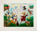 Original Comic Art:Miscellaneous, Carl Barks Return to Plain Awful Regular Edition Lithograph#77/345 (Another Rainbow, 1989).... (Total: 4 Items)