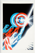 Original Comic Art:Covers, Alex Ross Paradise X Volume 1 Trade Paperback Captain America Cover Original Art (Marvel, 2003)....