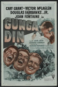 "Movie Posters:Action, Gunga Din (RKO, R-1947). One Sheet (27"" X 41""). Action. StarringCary Grant, Victor McLaglen, Douglas Fairbanks Jr., Sam Jaf..."
