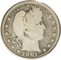 Barber Quarters: , 1901-S 25C Good 4 PCGS. Some detail is evident on the centraldevices, and most all of the peripheral reverse lettering sho...