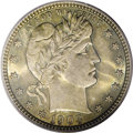 Barber Quarters: , 1903-O 25C MS64 PCGS. A richly toned near-Gem from the last yearsof the New Orleans Mint. Gold-green, bronze, and rose-gol...