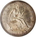 Proof Seated Half Dollars: , 1847 50C PR64 NGC. True proof examples of earlier coins are usuallyidentified as such by a mere glance, and this is just s...
