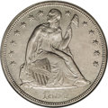 Seated Dollars: , 1854 $1 --Repaired, Cleaned--ANACS. AU58 Details. Repaired near theIT in UNITED, probably to ...
