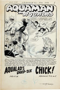 Original Comic Art:Splash Pages, Nick Cardy Aquaman #33 First Appearance of Tula, Aqua-GirlSplash Page 1 Original Art (DC, 1967)....