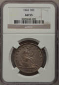 Seated Half Dollars: , 1864 50C AU55 NGC. NGC Census: (9/61). PCGS Population (4/60).Mintage: 379,100. Numismedia Wsl. Price for problem free NGC...