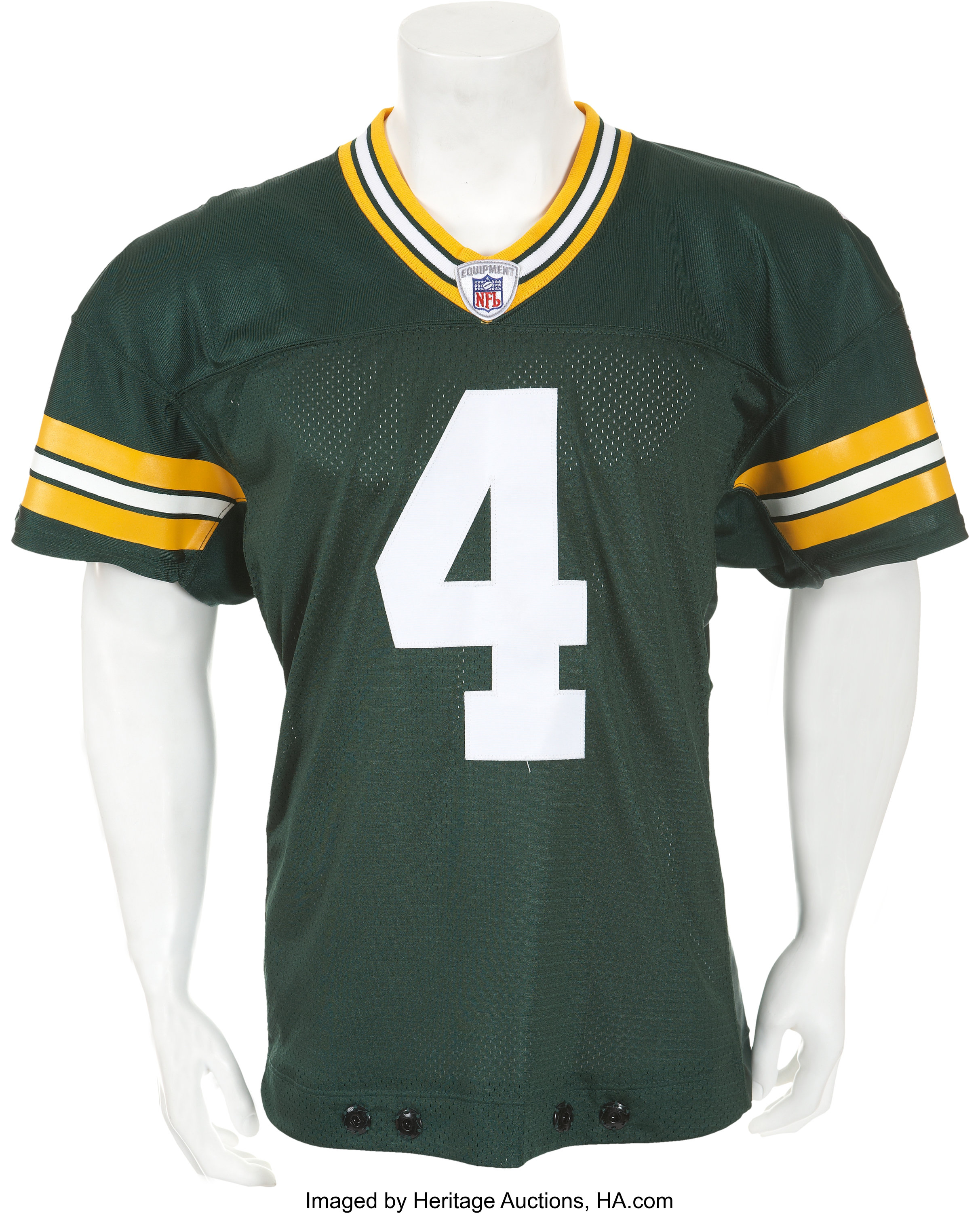 separation shoes e74db 0114e 2003 Brett Favre Game Worn Green Bay Packers Jersey - Used ...
