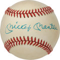 Autographs:Baseballs, Early 1980's Mickey Mantle & Roger Maris Dual Signed Baseball,PSA NM+ 7.5....