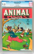 Golden Age (1938-1955):Funny Animal, Animal Comics #16 (Dell, 1945) CGC VF/NM 9.0 Off-white pages....