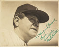 Autographs:Photos, 1940's Babe Ruth Signed Photograph, PSA/DNA Mint 9....