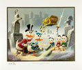 Original Comic Art:Miscellaneous, Carl Barks Dubious Doings at Dismal Downs Gold Plate EditionLithograph #1/100 (Another Rainbow, 1986).... (Total: 2 Items)