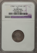 Early Dimes, 1798/97 10C 16 Stars on Reverse--Damaged, Bent--NGC Details. VG.JR-1. NGC Census: (1/41). PCGS Population (3/53). Mint...
