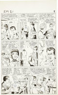 Original Comic Art:Panel Pages, Steve Ditko Amazing Spider-Man #21 Human Torch page 7Original Art (Marvel, 1965).. ...